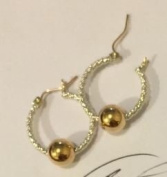 Premium Cape Cod 14k Gold and Twisted Sterling Silver Earrings, Gold Post and Hinge - 3 Sizes Available