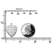 Sterling Silver - Life is Inspiration - Heart Locket - 1.9cm X 1.9cm
