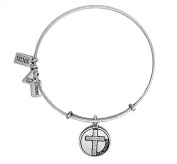 Wind and Fire Salvation Cross Silver Medal Charm Bangle