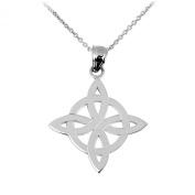 925 Sterling Silver Irish Celtic Trinity Pendant Necklace
