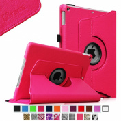 iPad mini Case - Fintie iPad mini 3 / iPad mini 2 / iPad mini Case, 360 Degree Rotating Multi-Angle Stand Smart Cover with Auto Wake/Sleep Feature, Magenta
