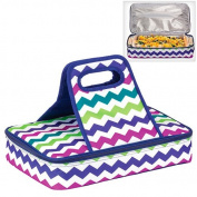 Insulated Casserole Carrier Travel Carry Bag ZIG ZAG DESIGN