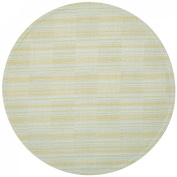 Pale Blue Cheque Textured Charger-Centre Round Placemat