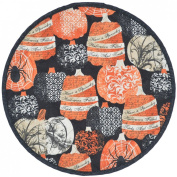 Quilted French Halloween Charger-Centre Round Placemat