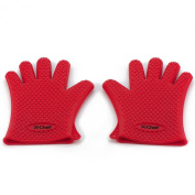Cooking Gloves, Heat Resistant Silicone Gloves, for Cooking, Baking, Grilling BBQ , Smoking & Potholder