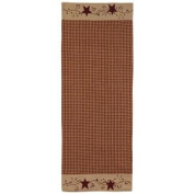 Stars and Berries 140cm Table Runner - Great Gift Idea - Country Rustic Look - Tablerunner - Embroidered