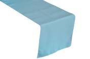 ArtOFabric Polyester Poplin Table Top Runner 30cm X 180cm - Light Blue