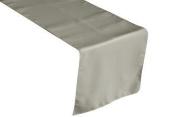 ArtOFabric Polyester Poplin Table Top Runner 30cm X 180cm - Silver