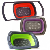 Fontaine Collapsible Colander,Over The Sink Colander, Silicone Strainer