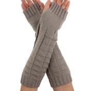 Natuworld Fashion Women Ladys Girl Knitted Crochet Long Wool Gloves Winter Warm Fingerless Gloves Winter Arm Hand Warmer Great gift for Xmas