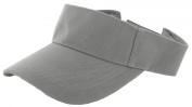 Grey_Plain Visor Sun Cap Hat Men Women Sports Golf Tennis Beach New Adjustable