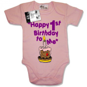 Dirty Fingers, Happy 1st Birthday to Me, Baby Bodysuit / Baby Grow