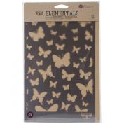 Prima Marketing Elementals Stencil -Butterflies, 17cm by 26cm