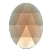 Stained Glass Jewels - 40x30mm Oval Faceted - Peach