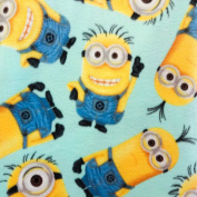 Despicable Me Minion Anti Pill Premium Fleece Fabric, 150cm Inches Wide - Sold By The Yard