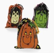 Large Halloween Drawstring Goody Bags