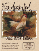 Handpainted Rooster Cross Stitch Pattern - Beautiful Farm Animal Design