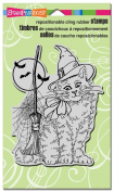 Stampendous Cling Witchy Cat Rubber Stamp