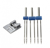 CHENGYIDA 9 GROOVE PINTUCK FOOT for Brother/JANOME/Singer +3pcs Double Twin Needle