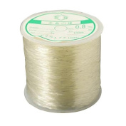 Pandahall 1 Roll/100m 0.8mm Crystal Fibre Stretch Elastic Craft Bracelet Beads Thread Clear Cord Sewing Finding