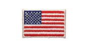 ID #1048 US USA American Flag Embroidered Iron On Applique Patch