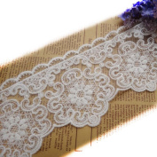 7.6cm - 0.6cm Wide White Cotton Embroidered Lace Trims Eyelet Fabric Garment DIY Craft Supply Home Decor Material By 5 Yards