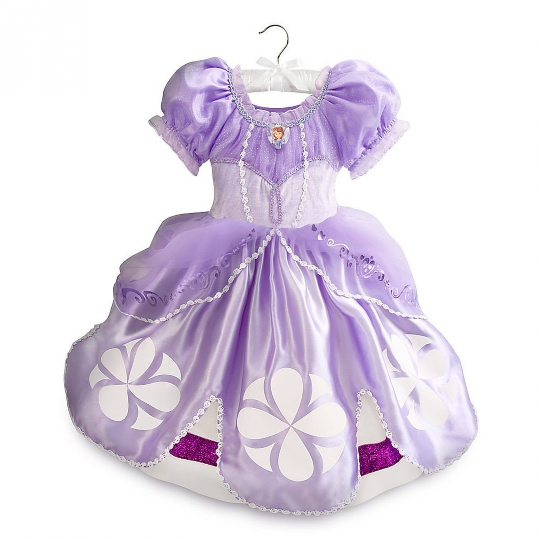 disney store deluxe sofia the first halloween costume size xxs 3 3t