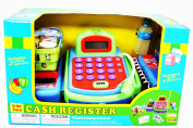Pretend Play Electronic Cash Register Toy Realistic Actions & Sounds Green/Blue/Red