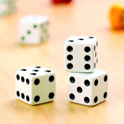 School Specialty Dice Set, White with Black Dots