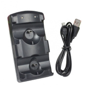 Lookatool® New 2 In 1 Double Charging Dock For PS-3/PS-3 Move Controllers