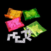 (12) Dominoes in Assorted Colour Neon Bags