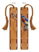 Bluebird - Bird Wooden Bookmark with Tassel