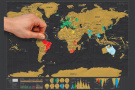 Madesign®Personalised Large Deluxe Travel Edition Black Scratch Off World Map Poster