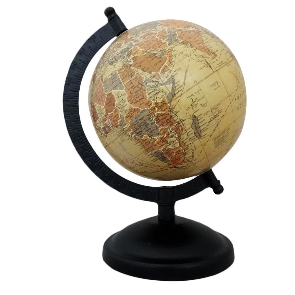 Indian gift globes table top antique standing world map desktop indian gift globes table top antique standing world map desktop accessories gift handmade 24cm tall standing globe ball by indiangiftstore shop online for gumiabroncs Gallery