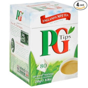 PG Tips Black Tea, Pyramid Tea Bags, 80-Count Boxes