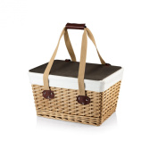 Picnic Time Canasta Picnic Basket, Brown