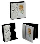 Silver Plated Baby Photo Album with Bear Case By Haysom Interiors