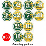 FOOTBALL GREEN Baby Month Onesie Stickers Baby Shower Gift Photo Shower Stickers, baby shower gift by OnesieStickers