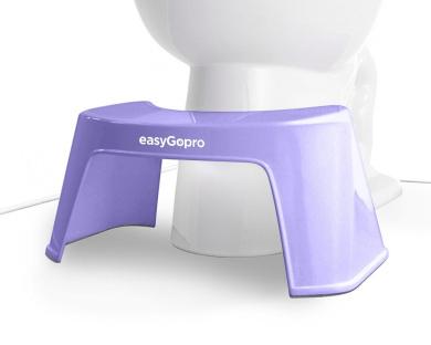 easyGopro Ergonomic Family Toilet Stool for Better Toilet Habits 19cm NEW (Lavender)