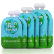 Reusable Food Pouch (6 Pack) - Easy to Fill and Clean - Double Zipper Means No Leaking - Perfect for Homemade and Organic Baby Food - Suitable for Babies, Toddlers and Kids of All Ages