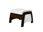 Ultramotion by Dutailier California Ottoman, Espresso/White