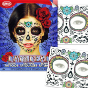 Day of the Dead Temporary Tattoos Costume Kit