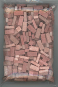 Dollhouse Miniature Used Red Brick Blend by Andi Mini Brick & Stone 325 count