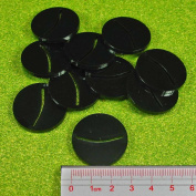 Paper Miniature Bases, 25mm Circle, 3mm Black