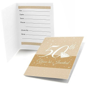 50th Anniversary - Fill In Anniversary Party Invitations