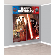 Amscam Star Wars Episode Vll Scene Setters Wall Decorating Kit, Multicolor
