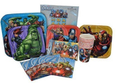 Marvel Avengers Birthday Party Supplies. Paper Plates, Cups, Napkins, Invitations and Birthday Banner