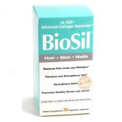 2 Pack Combo Biosil Hair Skin Nail By Natural Factors - 30 Vegetarian Capsules with VDC Pill Box