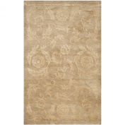 Safavieh Tibetan Collection TB302G Hand-knotted Beige Wool and Silk Area Rug, 1.5m by 2.1m