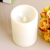 ELEOPTION® High quality Indoor/Outdoor Flameless Resin Pillar led Candle with 4 & 8 Hour Timer